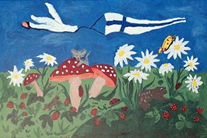 Hauli Huvila painting