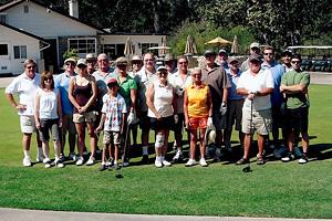 Hauli Huvila golfing