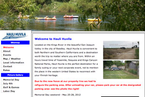 Old Hauli Huvila homepage