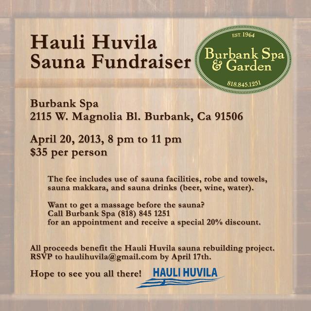 Hauli Huvila Sauna Fundraiser